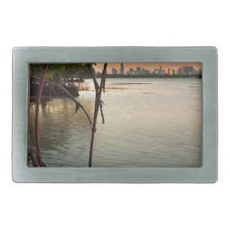 Miami and Mangroves at Sunset Belt Buckles
