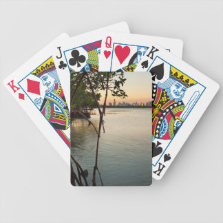 Miami and Mangroves at Sunset Bicycle Playing Cards