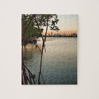 Miami and Mangroves at Sunset Jigsaw Puzzle