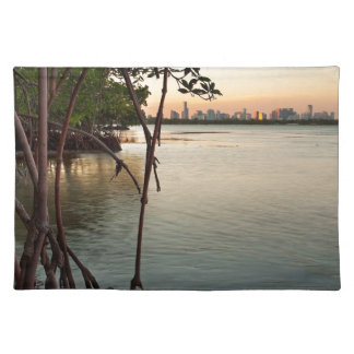 Miami and Mangroves at Sunset Placemat