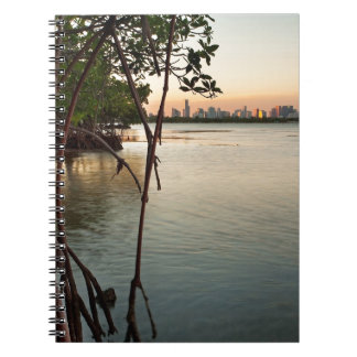 Miami and Mangroves at Sunset Spiral Notebook