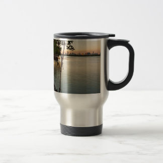 Miami and Mangroves at Sunset Travel Mug