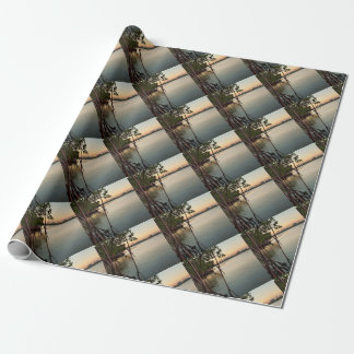 Miami and Mangroves at Sunset Wrapping Paper