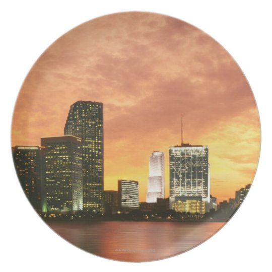 Miami at Sunset Plate
