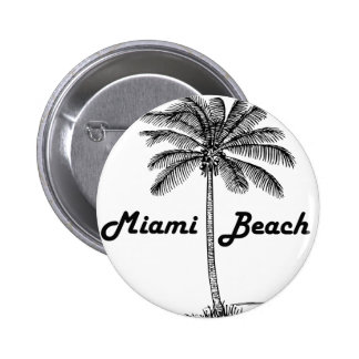 Miami Beach 2 Inch Round Button
