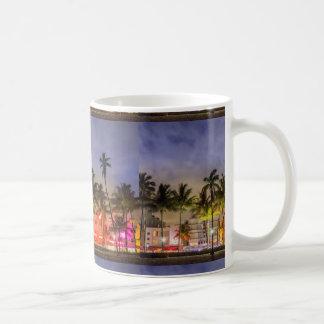 Miami beach basic white mug