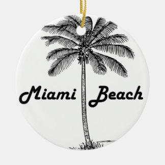 Miami Beach Ceramic Ornament