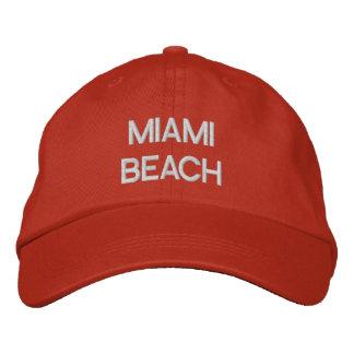 MIAMI BEACH EMBROIDERED HAT