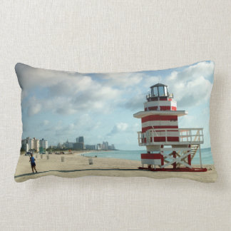 Miami Beach Fl. USA Art Deco lifeguard stations Lumbar Pillow