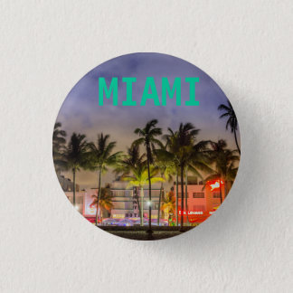 MIAMI BEACH FLORIDA 1 INCH ROUND BUTTON