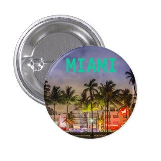 MIAMI BEACH FLORIDA 1 INCH ROUND BUTTON