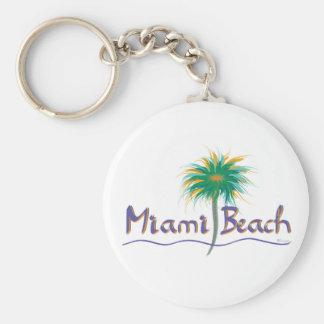 Miami Beach, Florida Basic Round Button Keychain