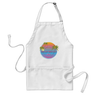 Miami-Beach, Florida Cool Adult Apron