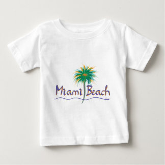 Miami Beach, Florida Palm Baby T-Shirt