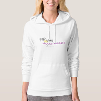 Miami Beach Florida Pink Grey Women's Hoodie