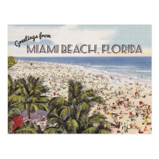 Miami Beach Florida Postcard   Vintage