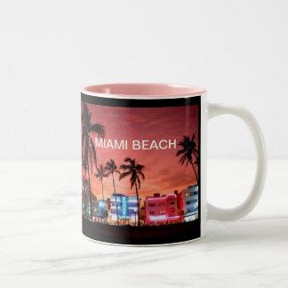 Miami Beach, Florida Two-Tone Coffee Mug