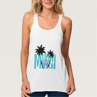 Miami Beach, Florida, Typography Cool Tank Top