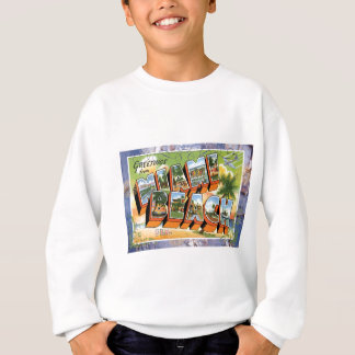Miami Beach Florida Vintage Travel Postcard Sweatshirt