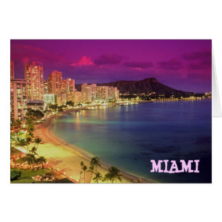 MIAMI BEACH, Florida 'WISH YOU WERE HERE' Greeting Cards