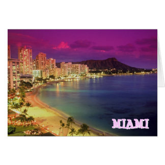 MIAMI BEACH, Florida 'WISH YOU WERE HERE' Stationery Note Card