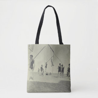 Miami Beach Gymnastics Vintage Photo Tote Bag
