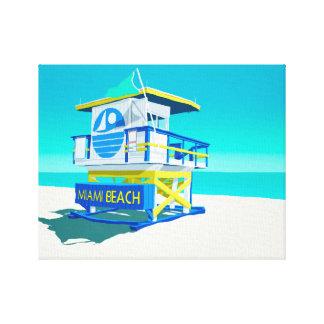 Miami Beach Hut. Canvas Print