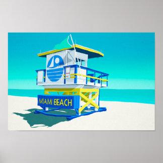 Miami Beach Hut. Poster
