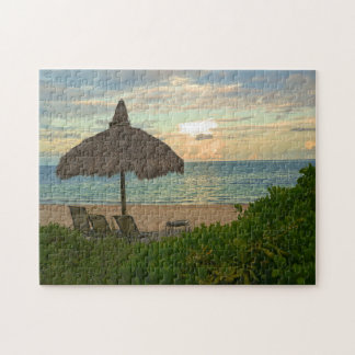 Miami Beach Sunset. Jigsaw Puzzle