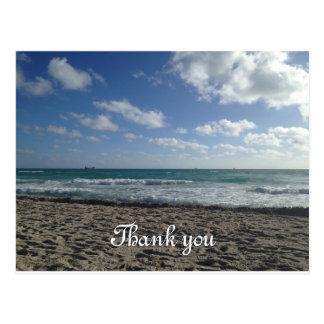 Miami Beach Thank You Postcard