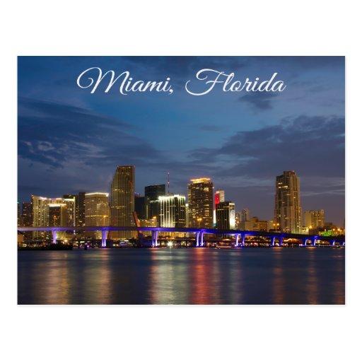Miami BeachSkyline Florida Travel Postcard