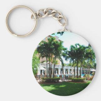 Miami Biltmore pool area Basic Round Button Keychain