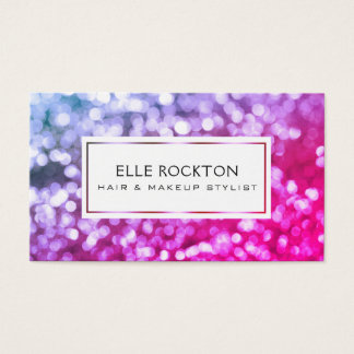 Miami Bokeh Lights Frame Business Card