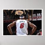 MIAMI, FL - 22 MAI :  LeBron James #6 des 2 Poster