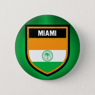 Miami Flag 2 Inch Round Button