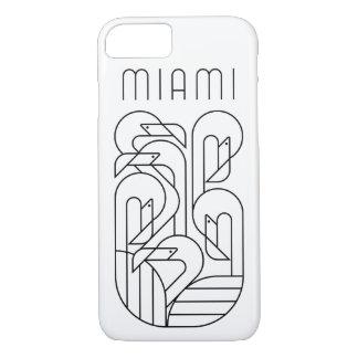 Miami Flamingo Black iPhone 8/7 Case