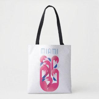 Miami Flamingo Color Tote Bag
