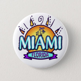 Miami, Florida 2 Inch Round Button