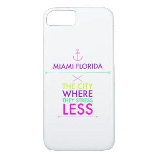Miami Florida Less Stress iPhone 7 case