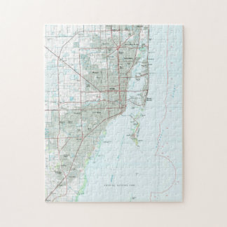 Miami Florida Map (1981) Jigsaw Puzzle