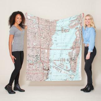 Miami Florida Map (1994) Fleece Blanket