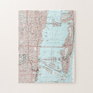 Miami Florida Map (1994) Jigsaw Puzzle