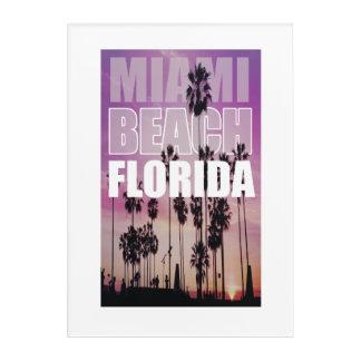 Miami Florida Palms Beach Photo, Photography Acrylic Print