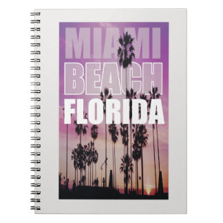 Miami Florida Palms Beach Photo, Photography Spiral Notebook
