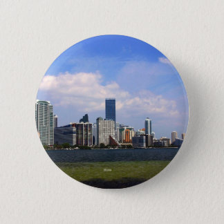 Miami Florida skyline 2 Inch Round Button