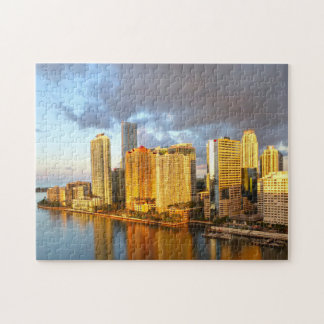 Miami Florida  Skyline. Jigsaw Puzzle