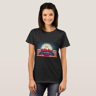 Miami Florida Skyline T-Shirt