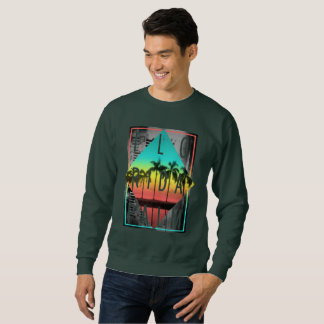 Miami Florida, Sunset Palm Trees, Sweatshirt