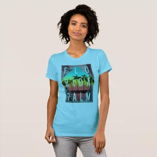 Miami Florida, Sunset Palm Trees, T-Shirt