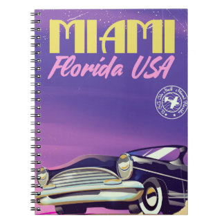 Miami Florida USA vintage poster Notebook